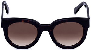 Loriblu Black celluloid frame women's sunglasses with brown shades lenses: €170.