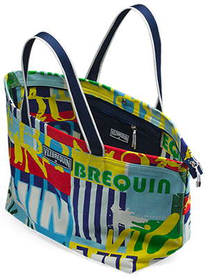 Vilebrequin Large Canvas Bag Font Print: US$170.