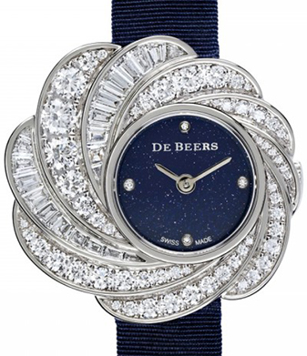 De Beers Jewellery Aria 29mm Full Pavé Watch with Aventurine Dial: US$48,000.