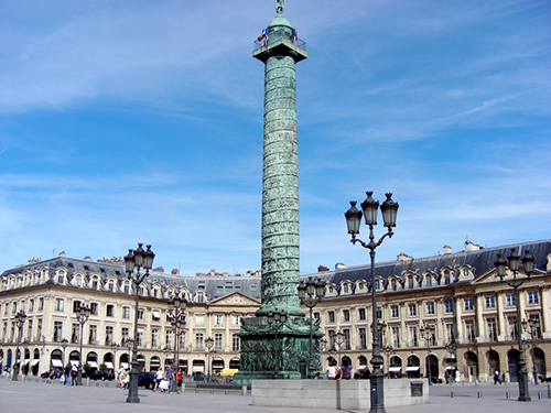 Place Vendôme in Paris by Hardouin-Mansart completed on April 7, 1699.