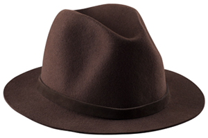 A.P.C. men's dark brown fishing hat: US$200.