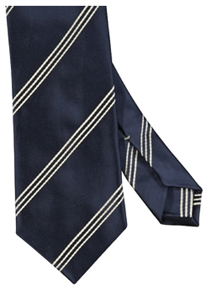 Udeshi Triple Wide Stripe Mogador Silk Tie: £105.