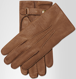 Crombie Cashmere Lined Camel Deerskin men's gloves: £175.