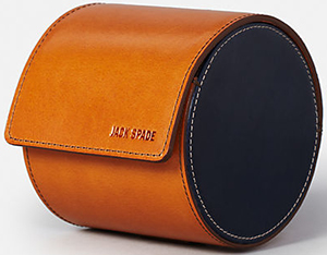 Jack Spade Mitchell leather tie cannister: US$178.