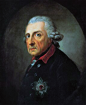Frederick the Great, King of Prussia (1781). This portrait is regarded as Anton Graff's masterpiece.