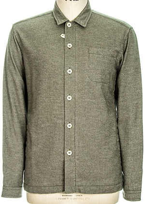 Oliver Spencer Lux Men's Shirt Mill Wash Khaki OSSMP11: £179.