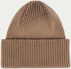 Bally men's wool and cashmere beanie in camel: US$395.