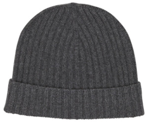 Bespoken New York Grey Ribbed Morton Knitted Hat: US$95.