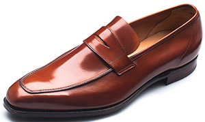 G.J. Cleverley George tan burnished calf men's shoe.