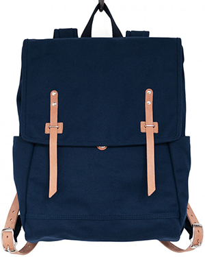 Makr One main compartment with interior pocket. Two exterior side pockets. Padded shoulder straps: US$185.