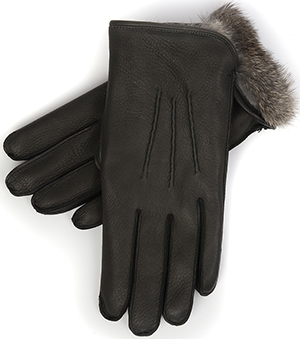 Pickett Men's Fur Lind Deerskin Gloves: £185.