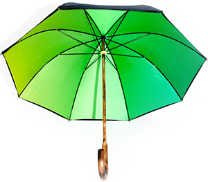 Richard James Green and Yellow Face Umbrella: £185.
