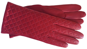 Hilts-Willard Lois Quilted Abyssinian lambskin women's gloves.