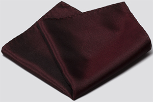 OwnOnly Solid Wine Red Pocket Square: US$19.