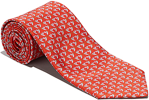 Salvatore Ferragamo Hummingbird Printed Tie: US$190.