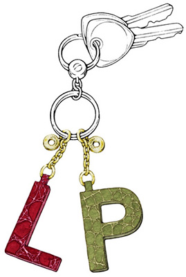 Loro Piana My Key Initials Key Ring: €190.