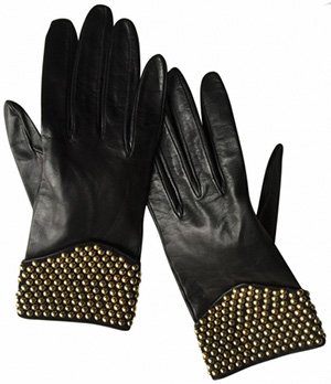 Yves Saint Laurent Women's Black Leather Gloves: €190.