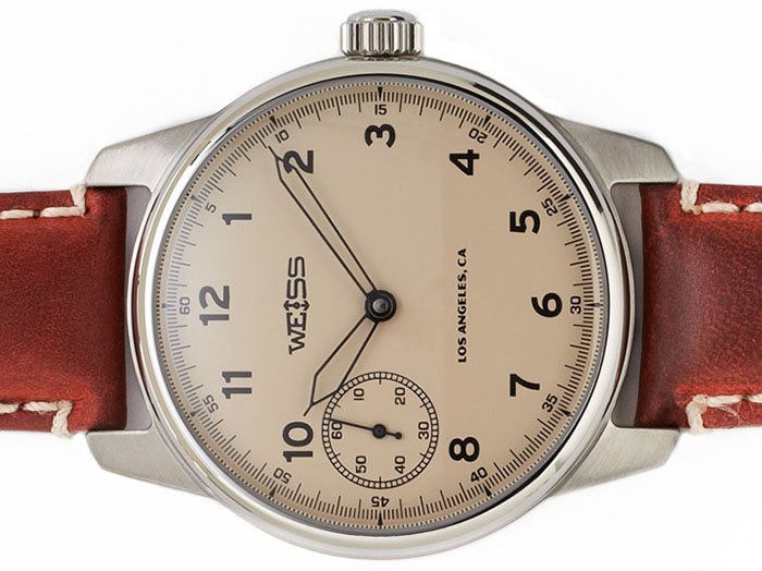Weiss Watch Company Weiss Special Issue Field Watch Latte Dial: US$1,250.