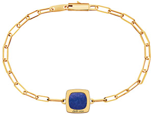 Dinh Van Impression bracelet yellow gold and lapis lazuli.