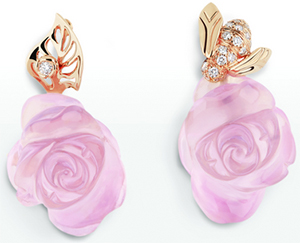 Dior Poetic Rose earrings.