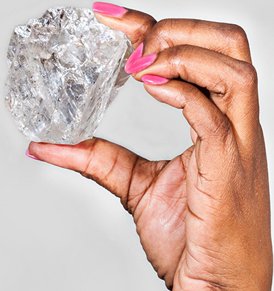Lucara Diamond: 1,111 Carat type IIa Karowe Diamond.