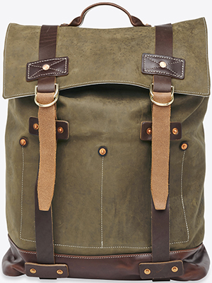 Billy Reid men's Olive Backpack: US$695.