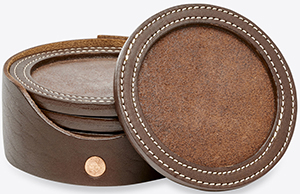 Billy Reid Leather Coasters: US$95.