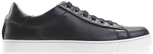 Gianvito Rossi Black Leather Man's Sneakers, white rubber sole, leather ins.: €435.