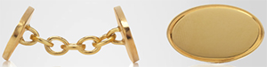 Crombie Oval Gold Plated Cufflinks: £195.