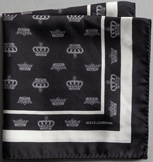 Dolce & Gabbana pocket square: US$195.