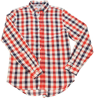 Haspel Constance - Men's Blue Red Plaid Shirt: US$195.
