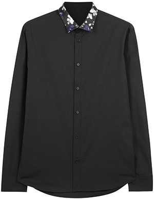 Markus Lupfer Black floral collar cotton men's shirt: £195.