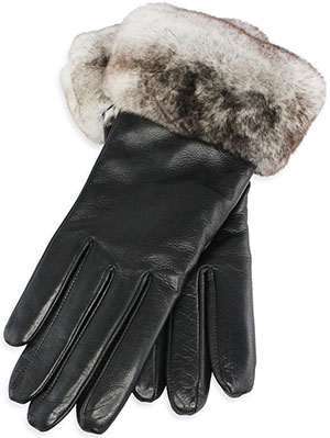 Pickett Rex Rabbit Fur & Cashmere Lined Ladies Gloves: £195.