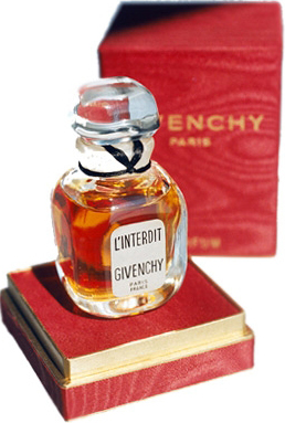 L'Interdit - perfume created in 1957 by Hubert de Givenchy for his friend, Audrey Hepburn.