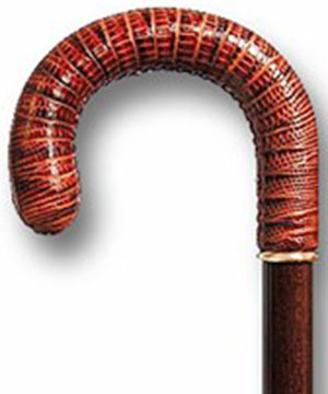 Elderlux Savile Row leather handle crook cane: US$199.99.