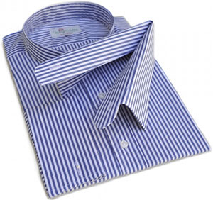 Wessex Striped tunic shirts plus 2 separate collars as used for business and legal wear.