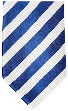 J By Jasper Conran Designer dark blue striped silk tie: £20.