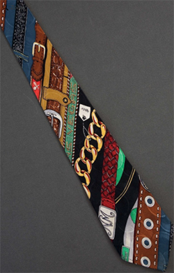 Rows Of Belts - Silk Nicole Miller Necktie: US$20.
