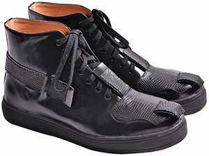 F-Troupe Leather High Black men's shoes: £200.