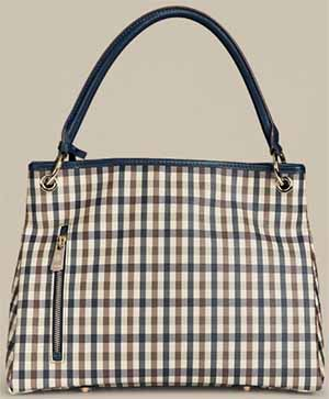 Aquascutum Charlotte Club Check Small Leather Women's Shopper Bag: £315.