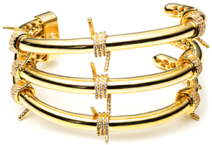 Fallon Pavé Barbed Wire Triple Cuff: US$500.