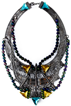 Fenton Vanderbilt Bib Necklace: US$850.