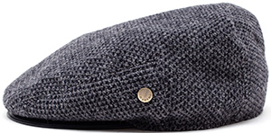 Browns Inverni Tweed and Leather Flat Cap: €205.