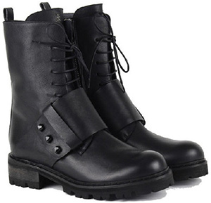 Henry Beguelin women's Combat Boot Studs Spinner Black: €751.