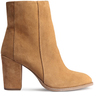 H&M women's Suede Ankle Boot: US$79.99.