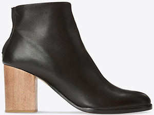 Helmut Lang women's Nappa Zip Ankle boot: US$387.