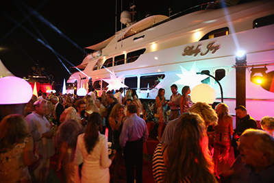Denise Rich's Annual St. Tropez Yacht Party in July onboard her US$38 million, 157-foot mega-yacht, Lady Joy.