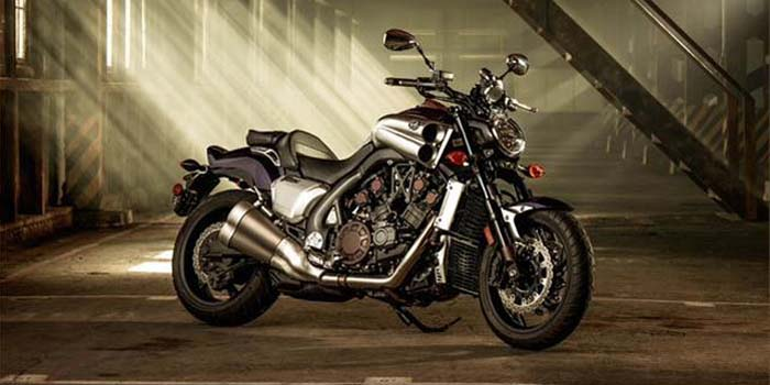 2013 Yamaha VMAX motorcycle - 'All Muscle. All Brains'.