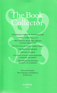 The Book Collector - Summer 2015 issue.