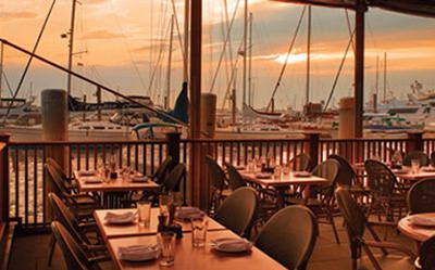 The Mooring Seafood Kitchen & Bar, 1 Sayers Wharf, Newport, RI 02840.